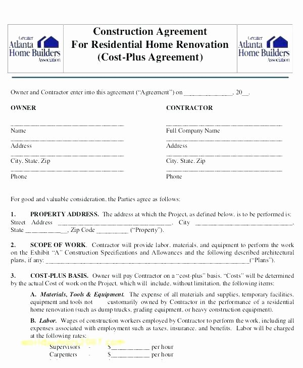 Free Residential Roofing Contract Template Fresh Residential Construction Specifications Template – Ensitefo