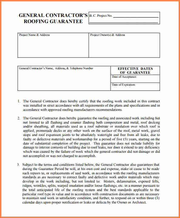 Free Residential Roofing Contract Template Fresh Roofing Estimate Example Pdf