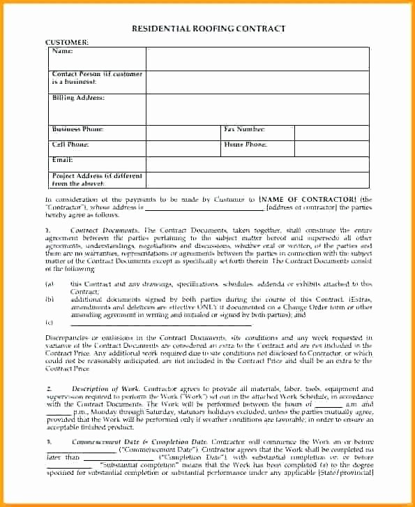 Free Residential Roofing Contract Template Lovely Design Build Contract – Uwcxroundtables