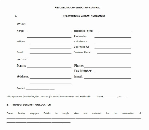 Free Roofing Contract Template Beautiful 18 Microsoft Word Contract Templates Free Download