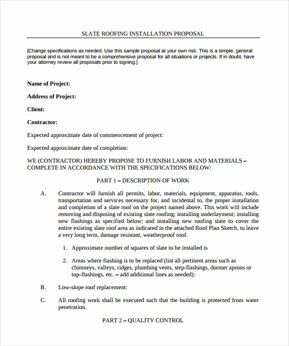 Free Roofing Contract Template Inspirational Roofing Contract Template 9 Download Documents In Pdf