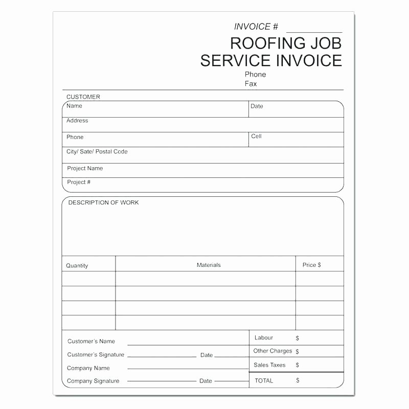 Free Roofing Estimate Template Inspirational Sample Roofing Contract Download by