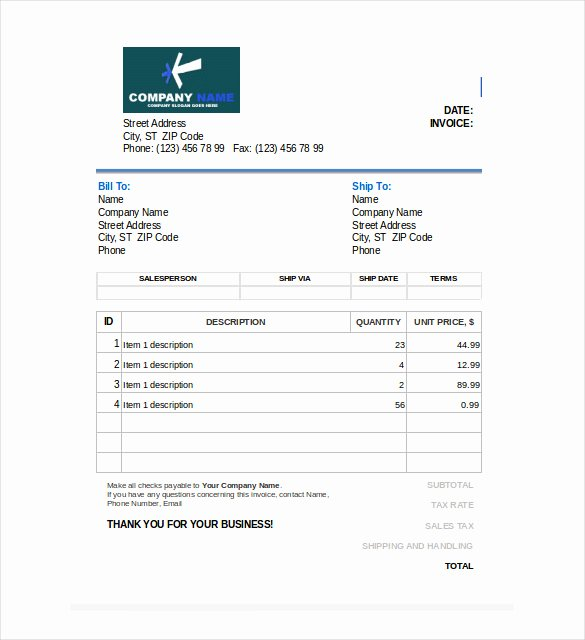 Free Sales Invoice Template Best Of 47 Blank Invoice Templates Ai Psd Google Docs Apple