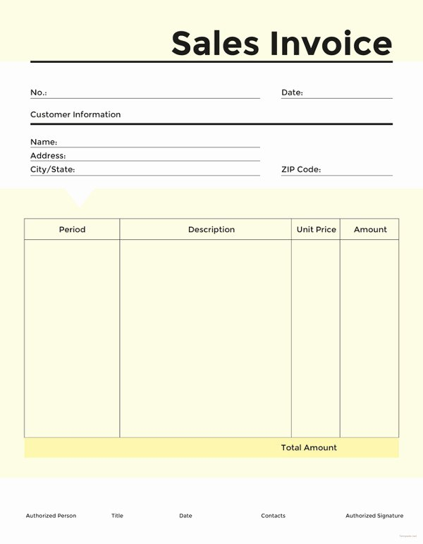 Free Sales Invoice Template Inspirational 16 Sales Invoice Template Free Word Excel Pdf Download