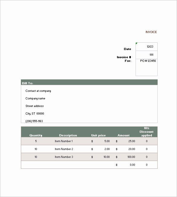 Free Sales Invoice Template Inspirational 16 Sales Invoice Templates Free Word Excel Pdf