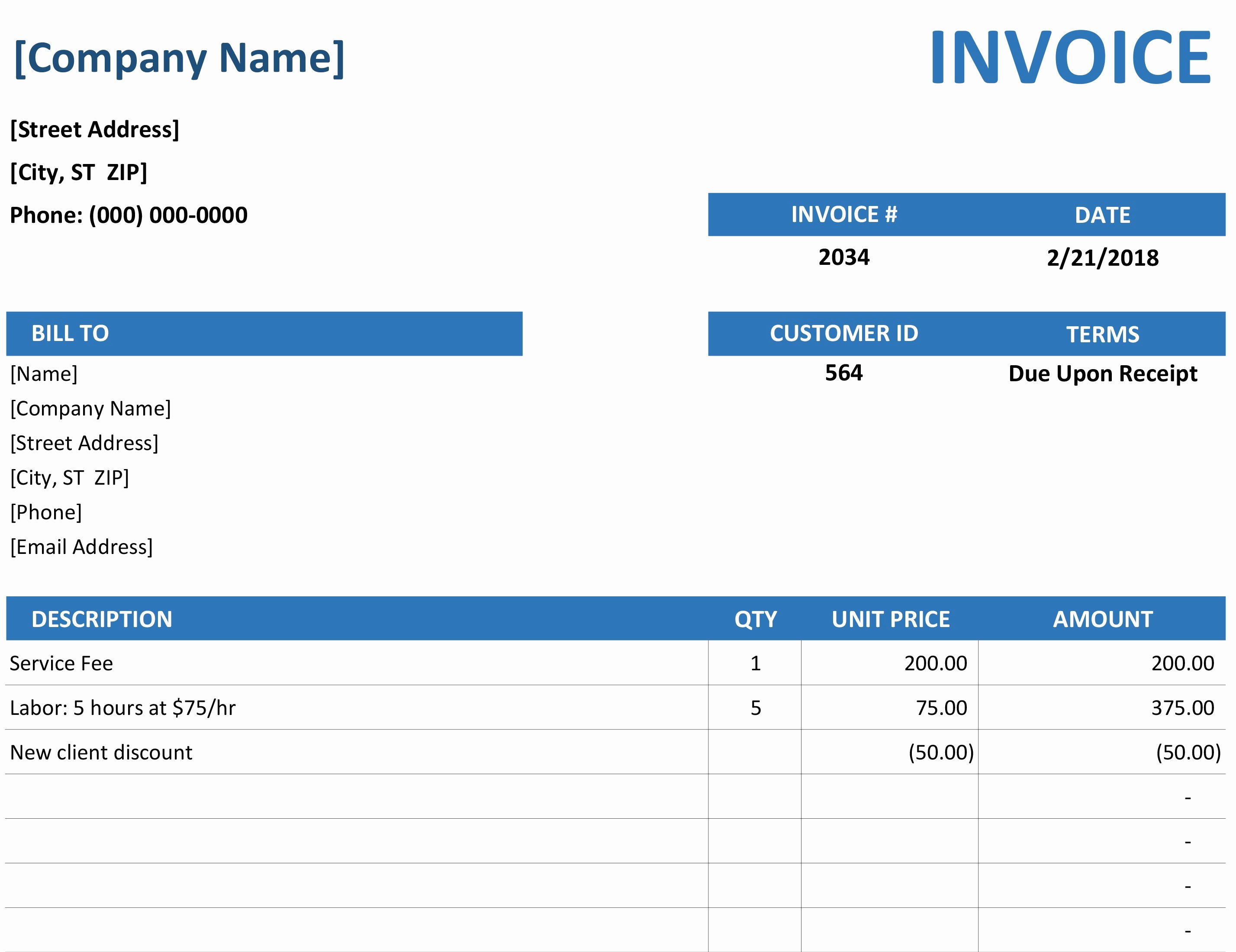 Free Sales Invoice Template Luxury Invoice