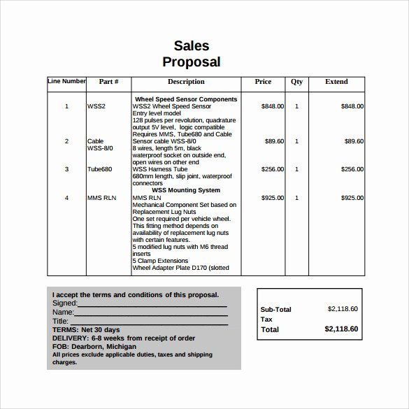 Free Sales Plan Template New 20 Sample Sales Proposal Templates – Pdf Word Psd
