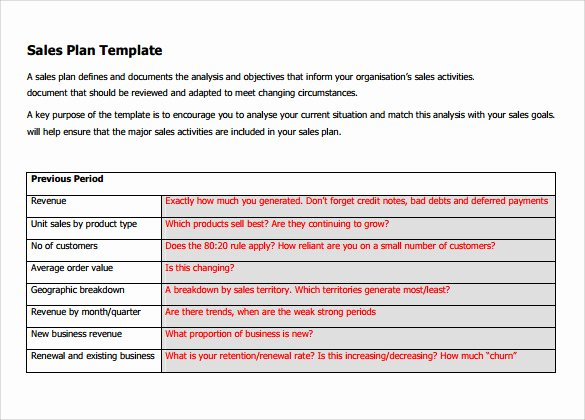 Free Sales Plan Template New 24 Sales Plan Templates – Pdf Rtf Ppt Word Excel