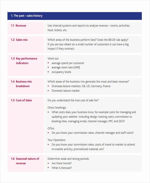 Free Sales Plan Template Unique Strategic Sales Plan Templates 6 Free Sample Example