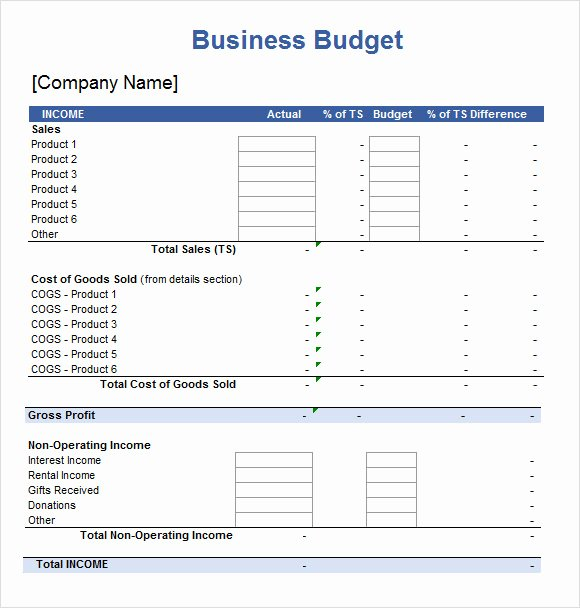 Free Small Business Budget Template Lovely Spreadsheet Template