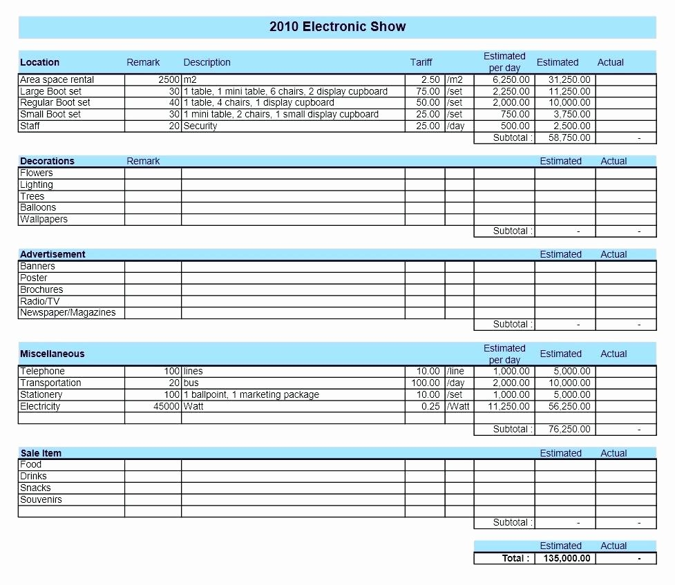 Free Small Business Budget Template New Template Pany Bud Template Excel