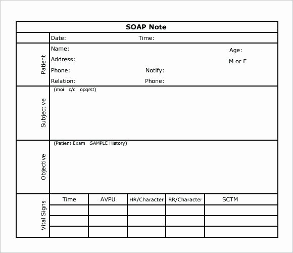Free soap Note Template New athletic Training soap Note Template – Picks