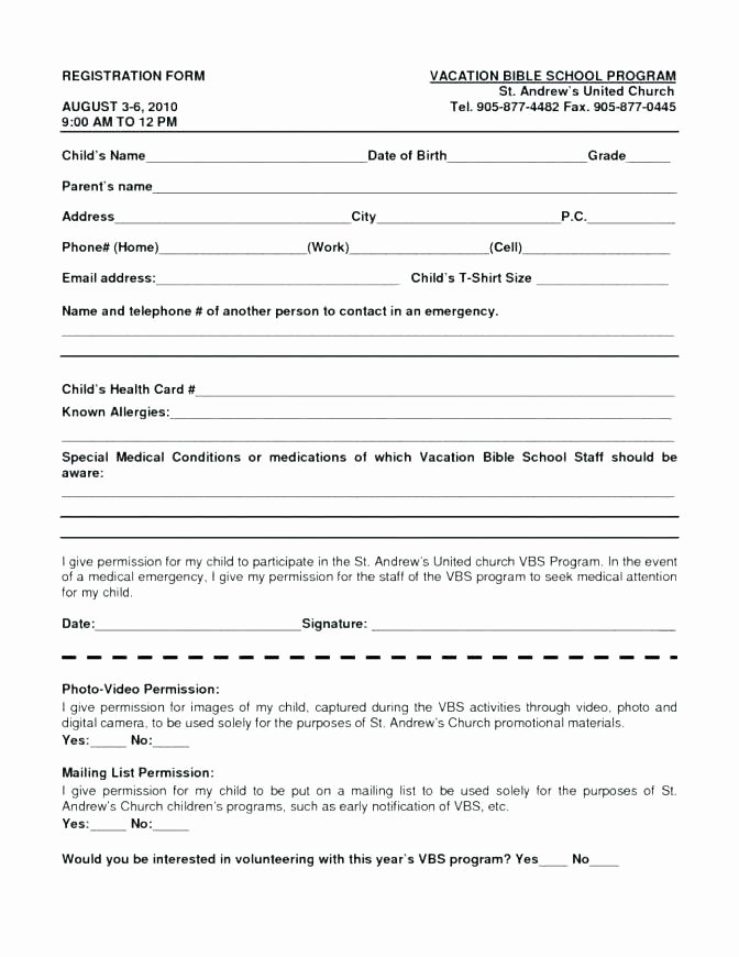 Free Sports Registration form Template Beautiful Sports Registration form Template – Vungtaufo