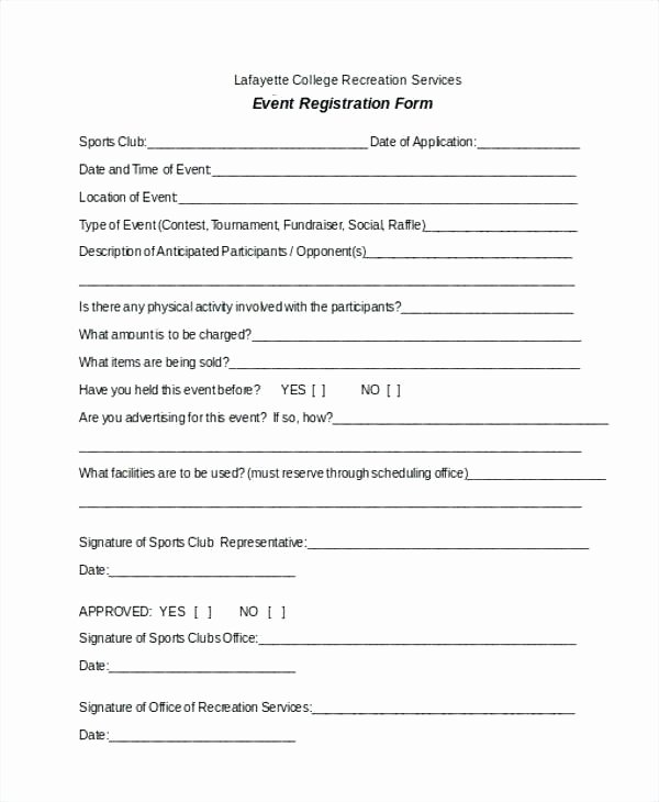 Free Sports Registration form Template Beautiful Vendor Registration Player form Template Basketball Word