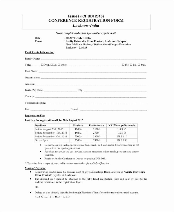 Free Sports Registration form Template Fresh Printable Registration form Template