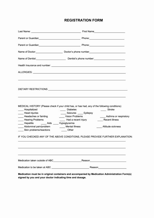 Free Sports Registration form Template Lovely 60 Sports Registration form Templates Free to In Pdf