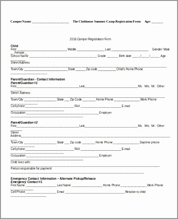 Free Sports Registration form Template New 10 Sport Registration form Template Taryi