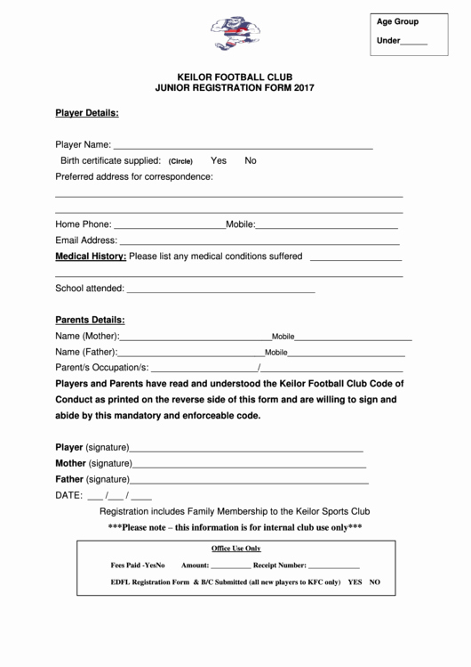 Free Sports Registration form Template Unique top 23 Samples Sports Registration form Templates Free to