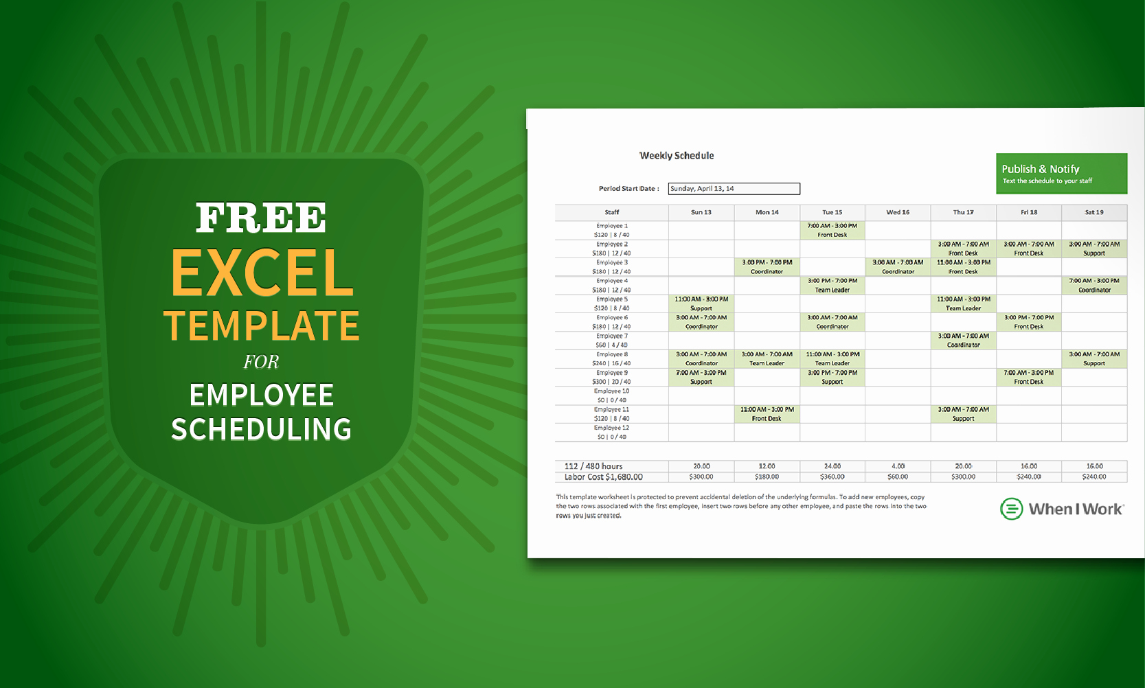 Free Staff Schedule Template Elegant Free Excel Template for Employee Scheduling