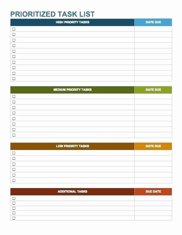 Free Task List Template Elegant Work to Do List Template Word Free Checklist todo