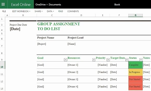 Free Task List Template Luxury Group assignment to Do List Template for Excel Line