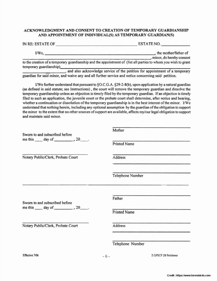 Free Temporary Guardianship form Template Luxury Legal Guardianship forms In Case Death form Resume