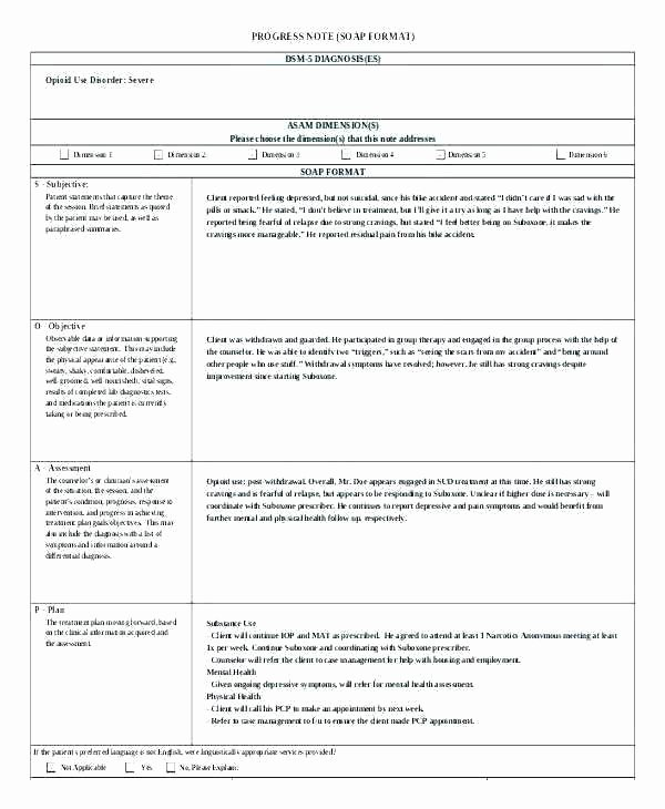 Free therapy Notes Template Unique New therapy Progress Note Template Examples Best Popular