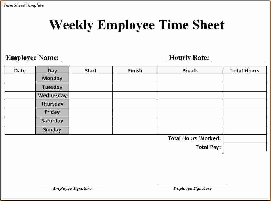 Free Time Sheet Template Unique 7 Timesheet Template Word