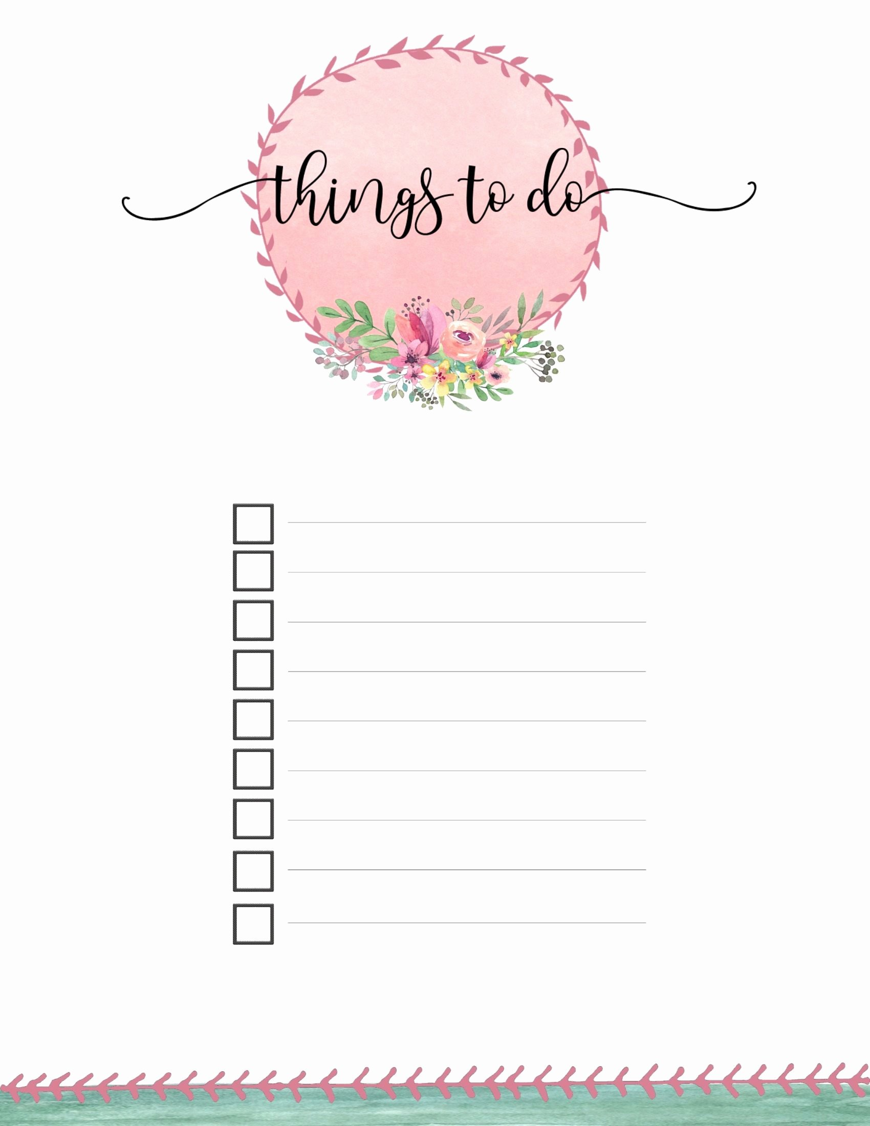 Free to Do List Template Luxury Free Printable to Do List Templates