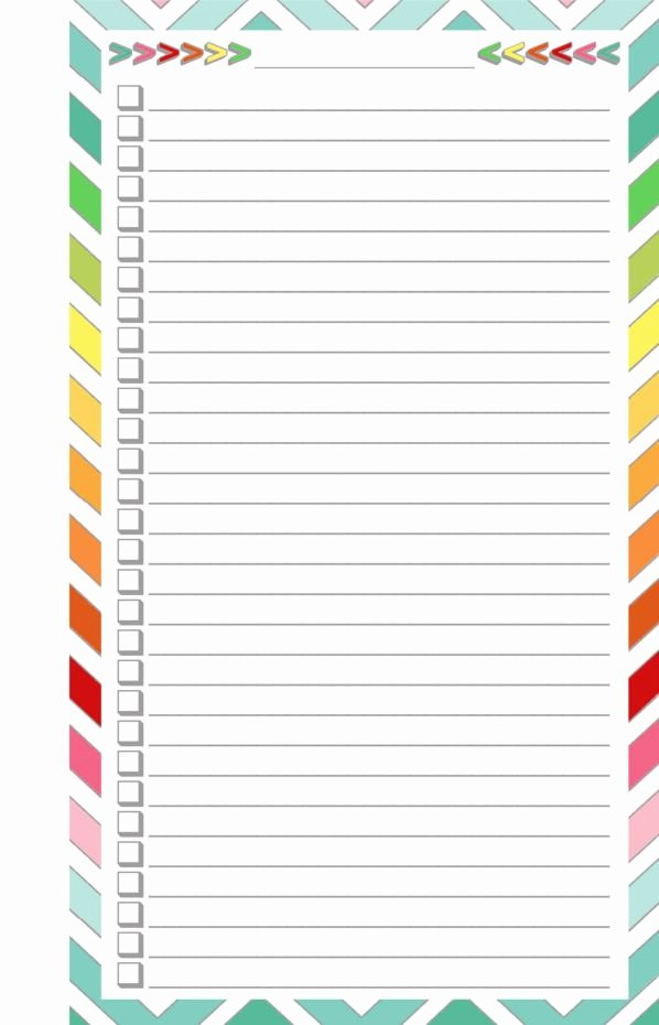 Free to Do List Template New Blank List Half Page