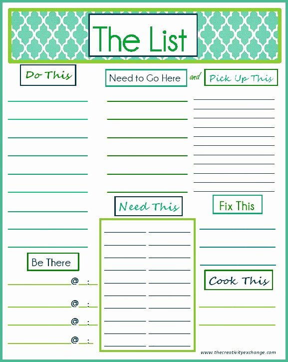 "Free to Do List Template Unique Free Printable ""to Do"" List"