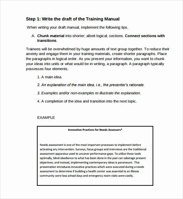 Free Training Manual Template Beautiful 11 Training Manual Samples – Pdf
