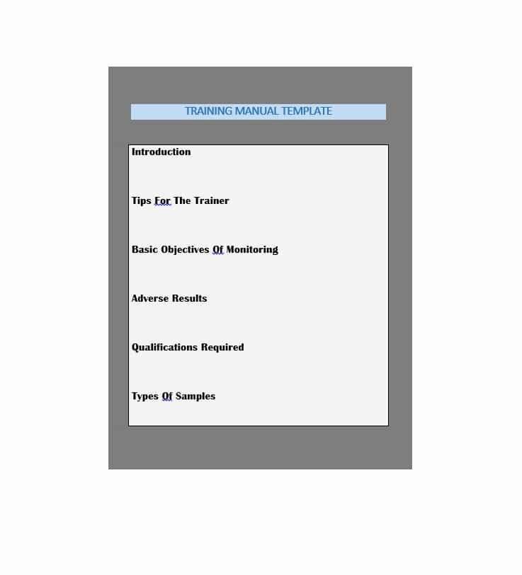 Free Training Manual Template Beautiful Training Manual 40 Free Templates & Examples In Ms Word
