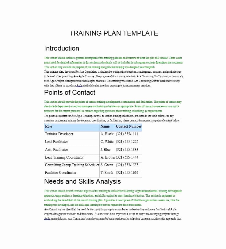 Free Training Manual Template Fresh Training Manual 40 Free Templates & Examples In Ms Word