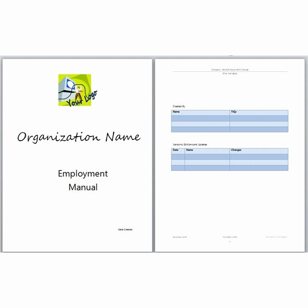 Free Training Manual Template Lovely Microsoft Word Manual Template Basic and Employment