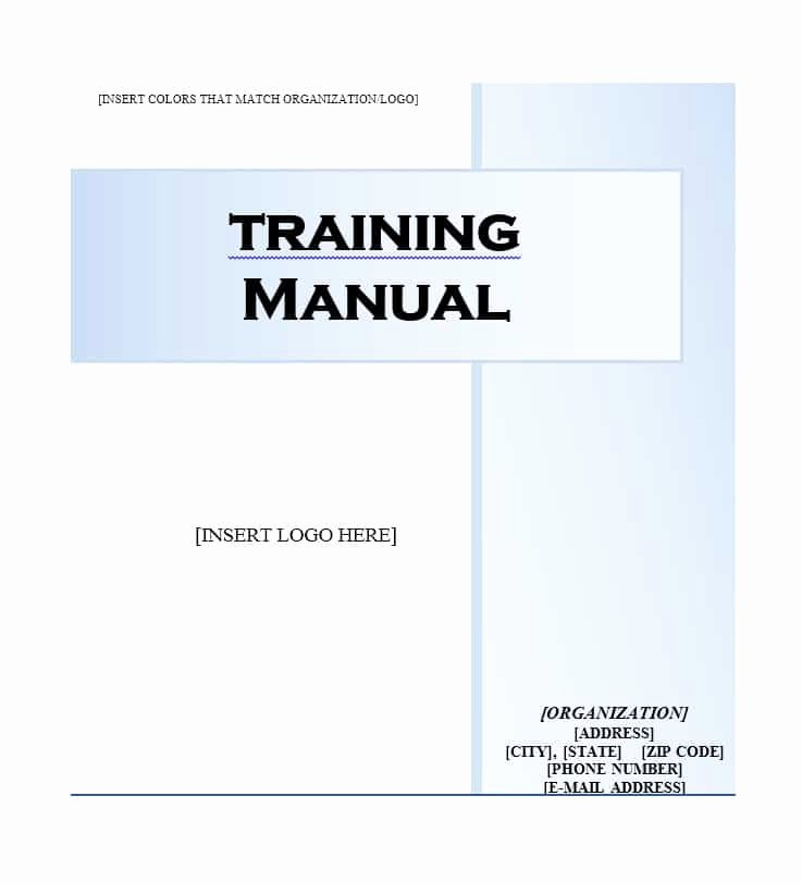 Free Training Manual Template Luxury Training Manual 40 Free Templates & Examples In Ms Word