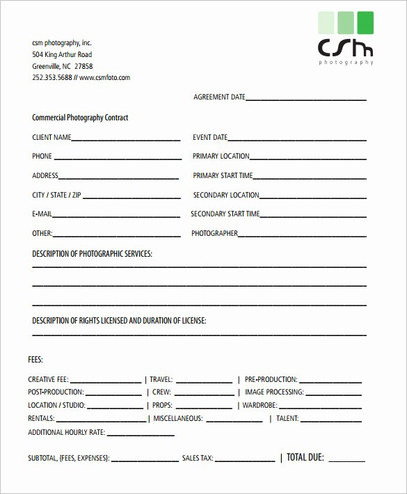 Free Wedding Photography Contract Template Lovely Graphy Contract Template – 10 Free Word Pdf