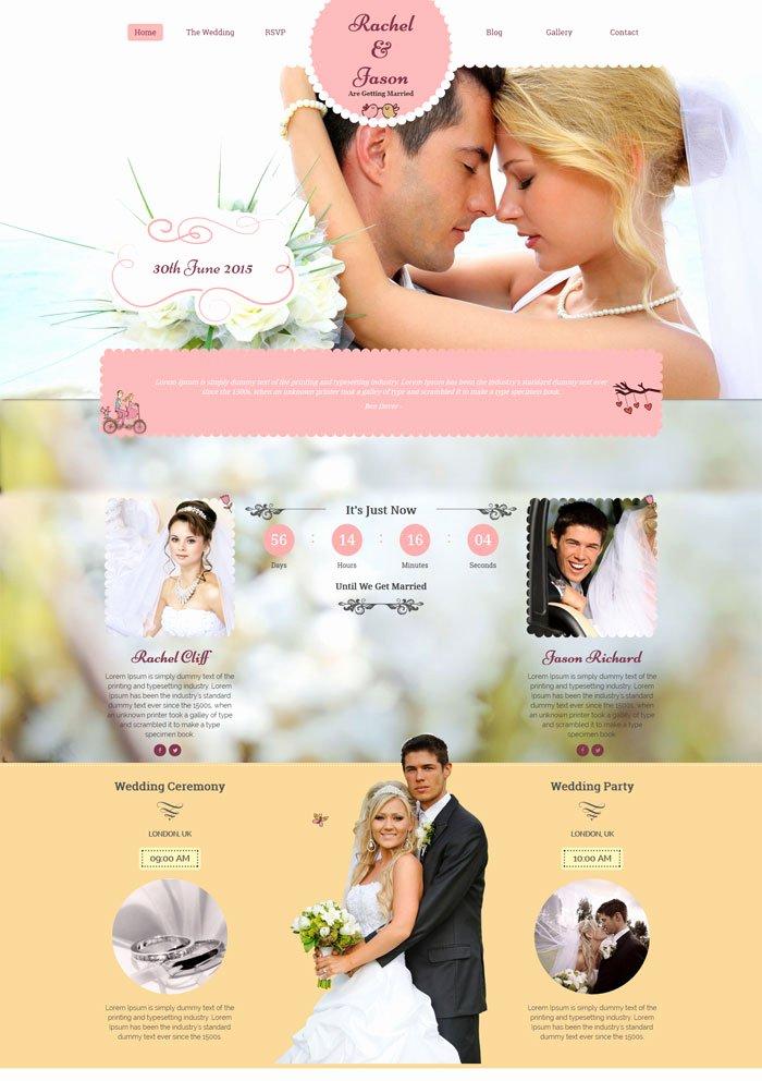 Free Wedding Website Template Awesome 15 Best Wedding Website Design Templates
