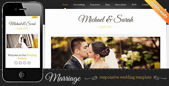 Free Wedding Website Template Awesome 7 Elegant HTML Wedding Website Templates