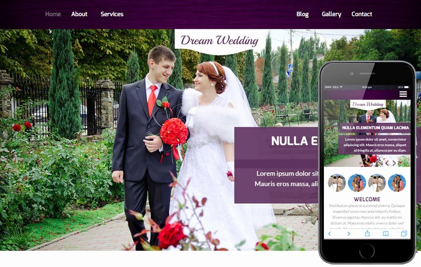 Free Wedding Website Template Awesome Marriage Portal Website Templates Free Download