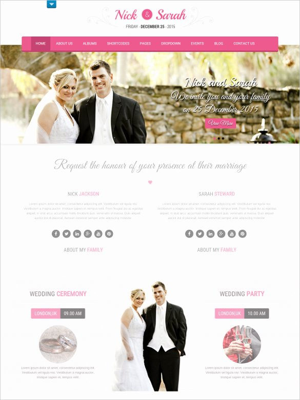 Free Wedding Website Template Beautiful 30 Wedding Website themes & Templates