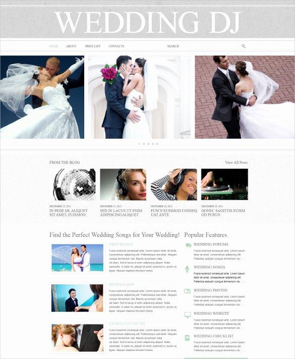 Free Wedding Website Template Beautiful 43 Dj Website themes & Templates