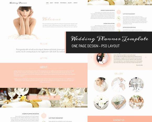 Free Wedding Website Template Inspirational E Page Design Wedding Planner Website Templates