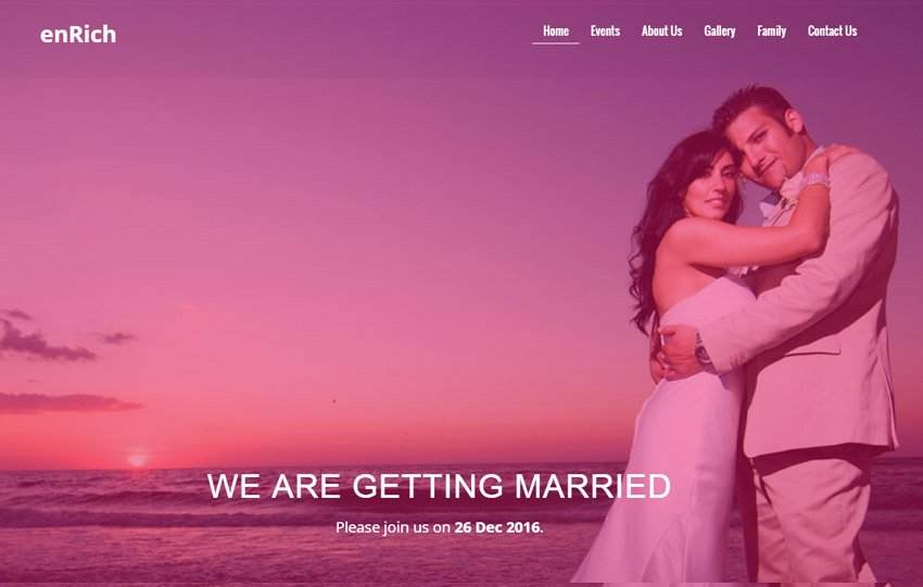 Free Wedding Website Template Inspirational Free Wedding Website Template by the Webthemez