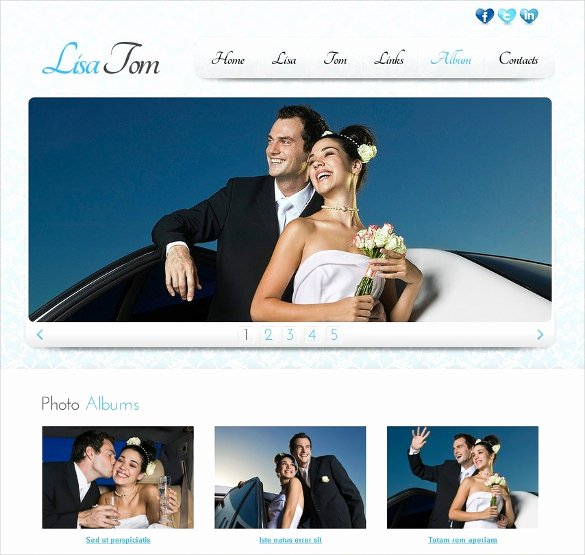 Free Wedding Website Template Lovely 37 Free Wedding Website themes & Templates