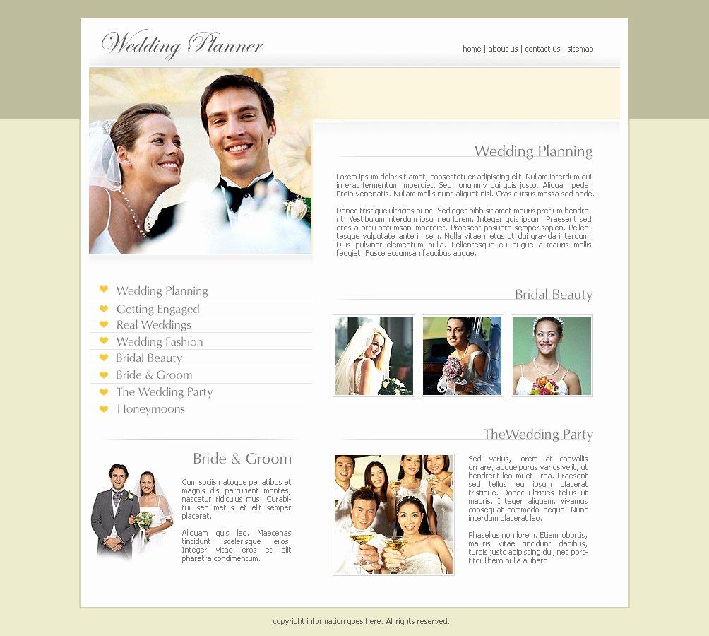 Free Wedding Website Template Lovely Free Wedding Website Templates