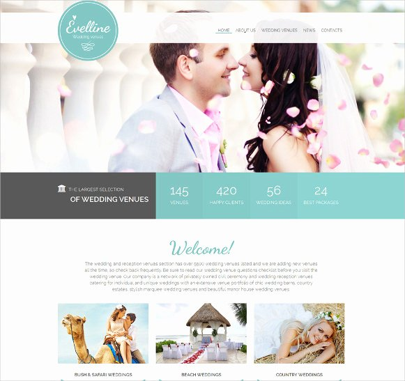 Free Wedding Website Template Luxury 16 Wedding HTML5 themes & Templates