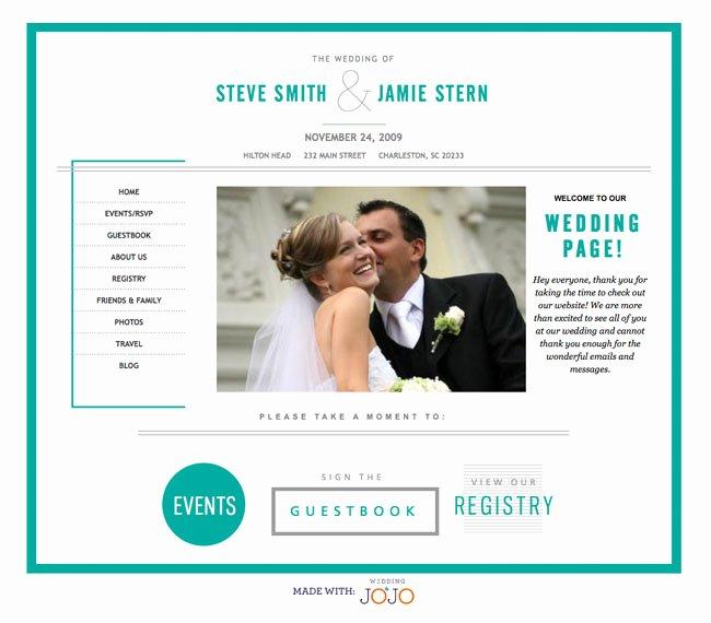 Free Wedding Website Template Luxury Wedding Websites From Wedding Jojo Green Wedding Shoes