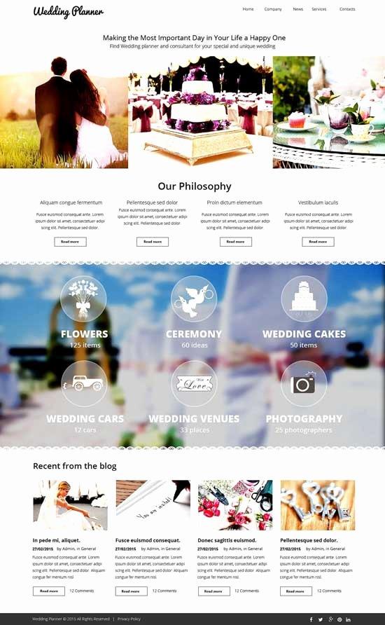 Free Wedding Website Template New 70 Best Wedding Website Templates Free & Premium