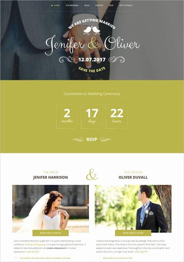 Free Wedding Website Template Unique 37 Free Wedding Website themes & Templates